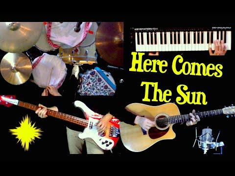 Here Comes The Sun  Instrumental   Guitar, Bass, Drums, Moog and Strings