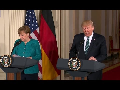 Germany trades barbs with Donald Trump on defence after the President tweeted.