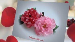 Красивые цветы из лент с проволочным краем(Мастер-класс по изготовлению красивых цветов из лент с проволочным краем. Цветок - Роза -------------------------------------..., 2016-05-13T08:09:03.000Z)