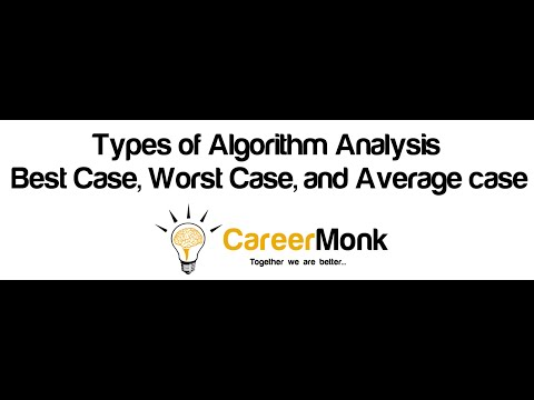 Types of Algorithm Analysis: Best Case, Worst Case, and Average case