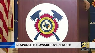 Response to lawsuit over Prop B