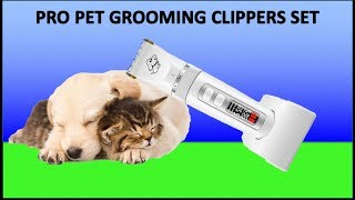 Pet Grooming Clippers #AFBEST 3-Speed Low Noise Professional Dog Grooming Clippers unboxing