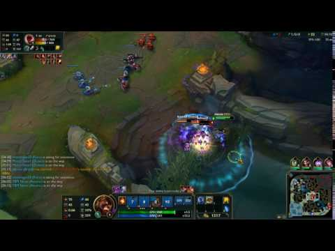 League of Legends - Brand (mid) Counter gank