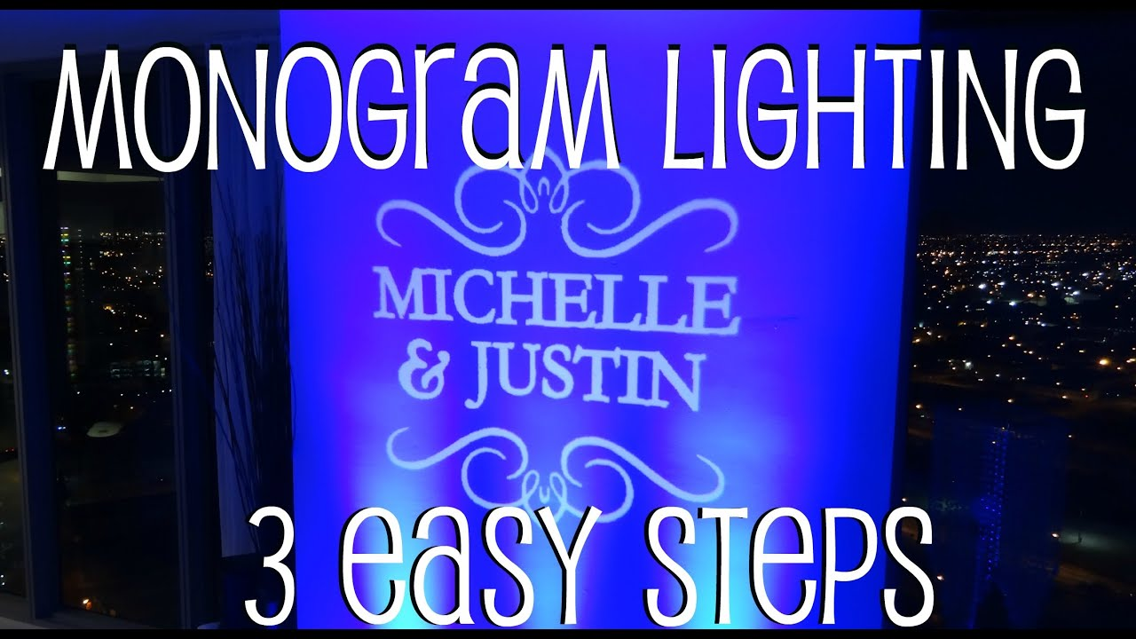 name put monogram wedding lighting the light church your gobos up proposal gobo in to lights blog