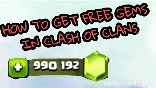 How to Get Free Gems in Clash Of Clans Using Legal Ways(not a hack)