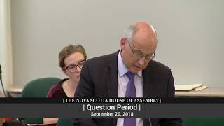 Sept. 20, 2018--QP--Gary Burrill to Stephen McNeil on Privacy Commission