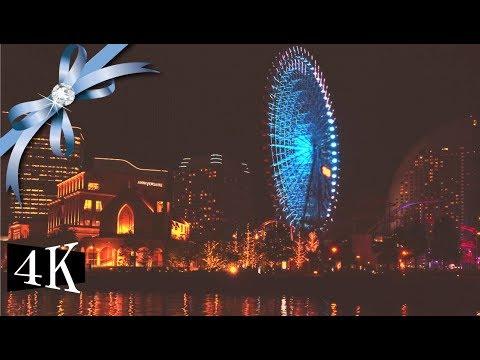 "🏢 Japan yokohama 🏢 night view with bossa nova music  ""Night time walk with you゛"