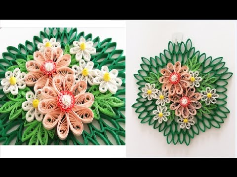 Paper Quilling Flower For Wall Hanging Decoration 16 Diy Wall Decoration Paper Flower Art
