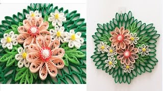 Paper Quilling Flower for Wall Hanging Decoration 16 // DIY Wall Decoration//Paper Flower Art