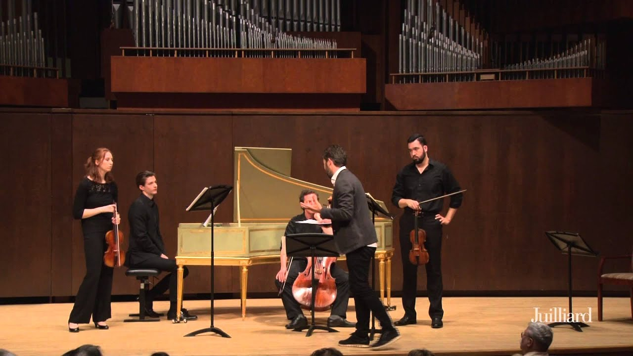 Pablo Heras-Casado Master Class at The Juilliard School: Leclair, Ouverture in A Major