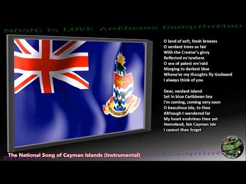 "Cayman Islands National Song ""Beloved Isle Cayman"" INSTRUMENTAL with lyrics"