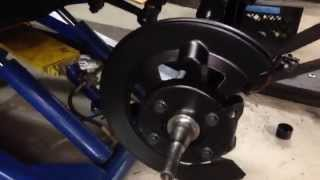 Front disk brake conversion Howard's 1964 1/2 Mustang Convertible - Day 5