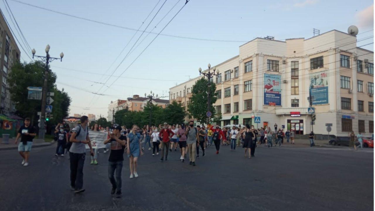 Протесты в Хабаровске в поддержку губернатора Сергея Фургала.День пятый / LIVE 15.07.20