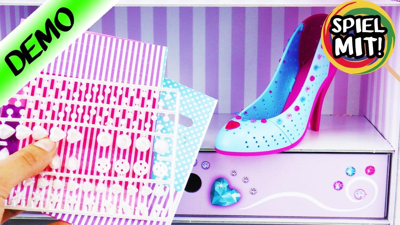 best service fb79b a754c SCHUHE designen | I love Shoes mit Glitzer und Herzchen | Ravensburger Set  inkl. Schuh Regal