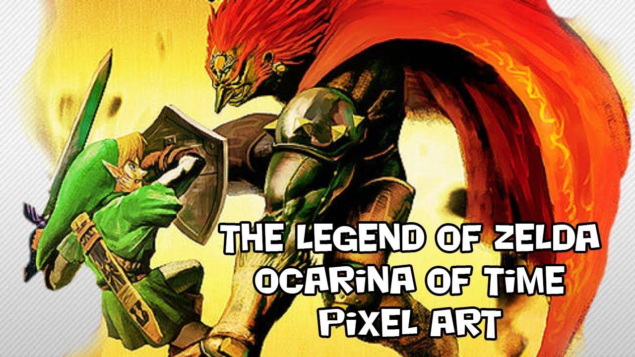 The Legend Of Zelda Ocarina Of Time Pixel Art Saison 2 Minecraft Hd