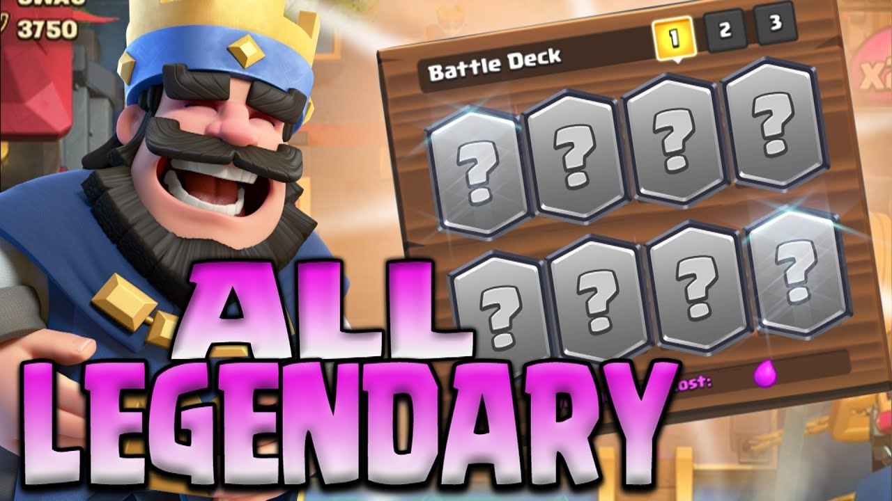 """""""NEW!"""" ALL LEGENDARY DECK! Clash Royale """"Will It Be Good?!"""""""