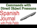 Commands with Direct Object Pronouns - Spanish Journal