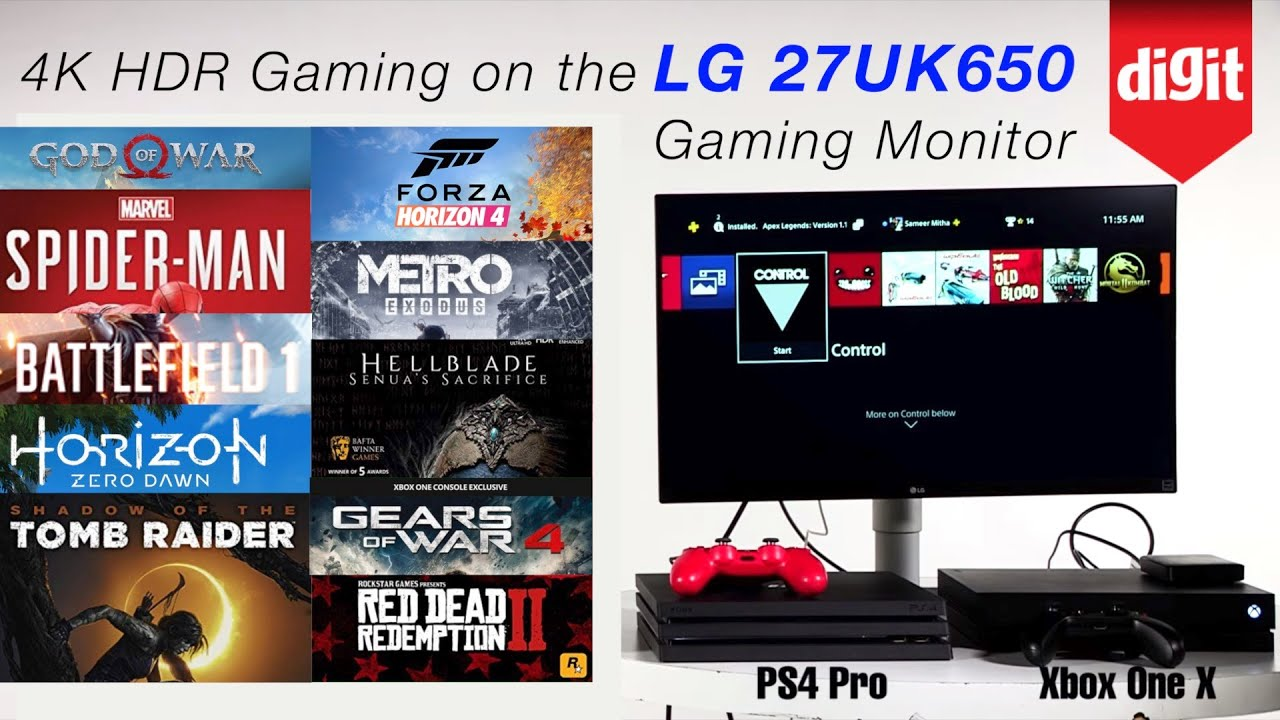 Tested! 4K HDR console Gaming on the LG 27UK650 Gaming