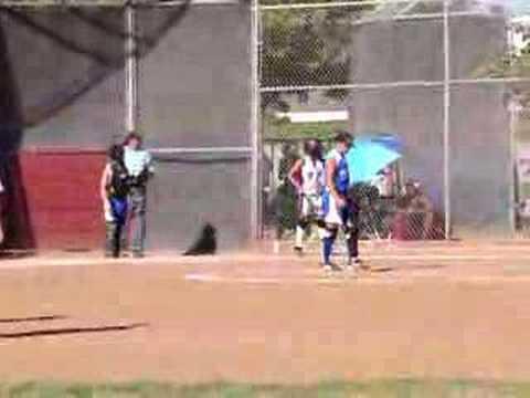Domonique Acosta hitting - West Garden Grove All-stars