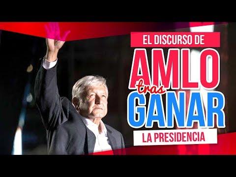 El discurso de AMLO tras ganar la elección, primeras palabras como presidente electo   Destino 2018