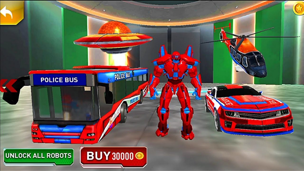 Download Bus Robot Police Car Multiple Transform War Game 2020 #3 - Android Gameplay