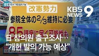 """일본 참의원 출구조사…NHK """"與 '압승', 개헌 발의도 '가능'"""" / KBS뉴스(News)"""