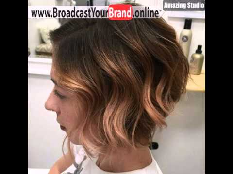 Light Copper Balayage For Short Brown Hair Youtube