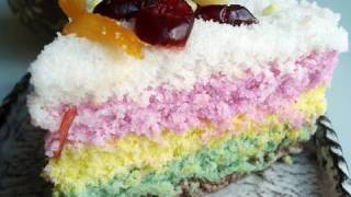 "Rainbow Rice Cake (""mujigaeddeok"":무지개떡)"
