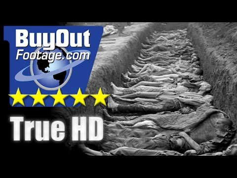 HD Historic Stock Footage WWII HOLOCAUST NAZI ATROCITIES