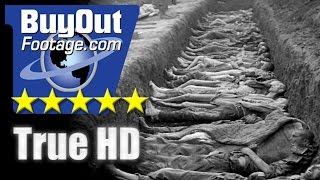 HD Stock Footage WWII Holocaust Nazi Atrocities Newsreel