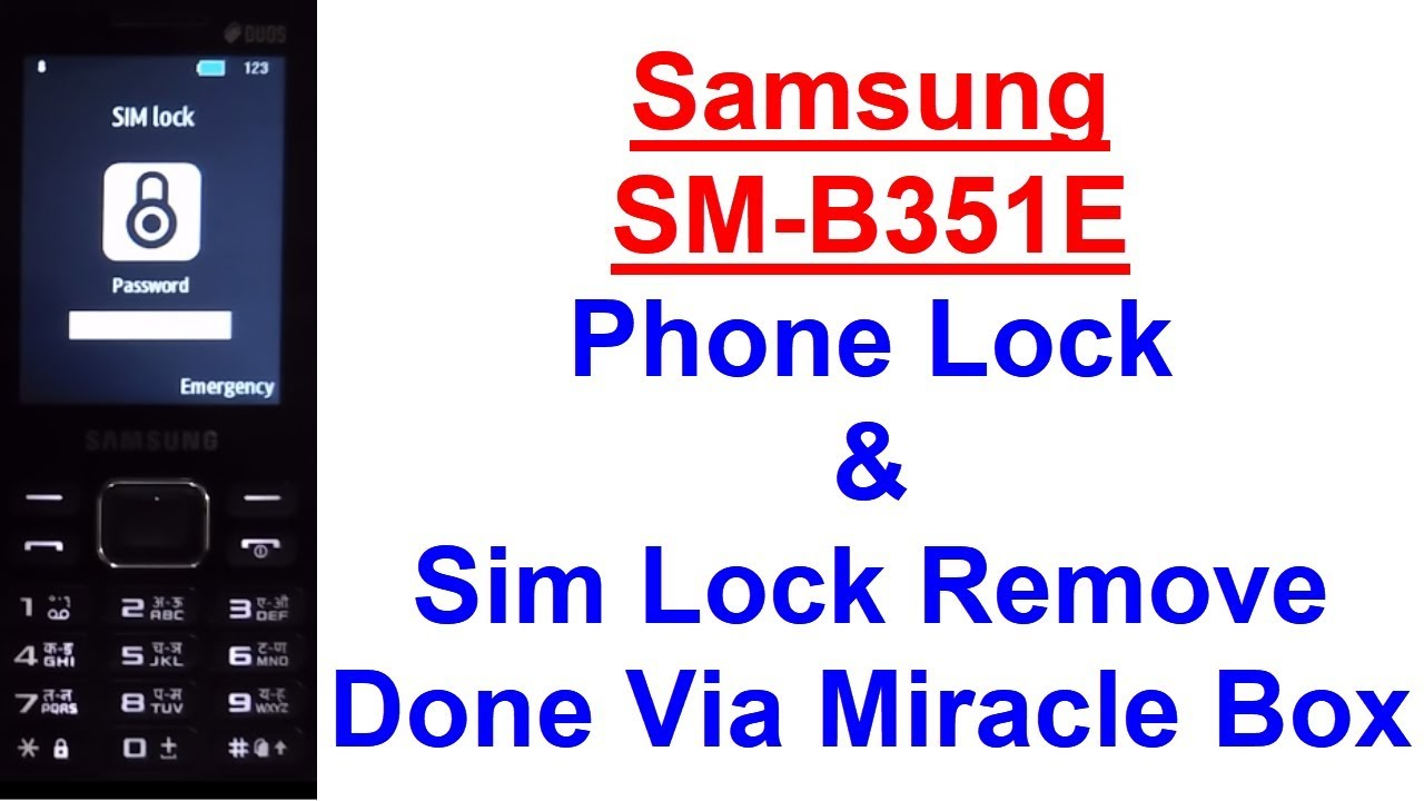 Samsung SM-B351E Phone Lock & Sim Lock Remove Done Via Miracle Box by  Mobile Solution Point
