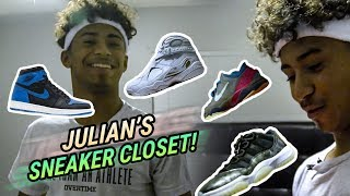 """People Die For These."" Julian Newman Shows Us His EXCLUSIVE Sneaker Closet!"
