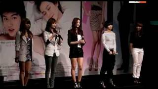 [CLIP] 100325 4minute singing OST song @ 'Personal Taste' Press Conference