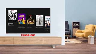 Changhong Google certified Android Smart TV 32 Inch Digital TV HD LED TV-L32H4-Garansi 5 Resmi Tahun