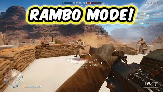 RAMBO GOD MODE! - Battlefield 1 Multiplayer Gameplay