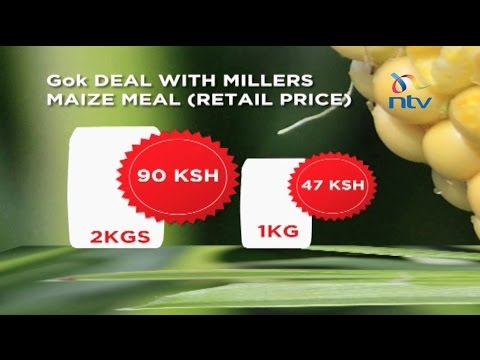 Government reduces price of 'unga' from Ksh. 160 to Ksh. 90