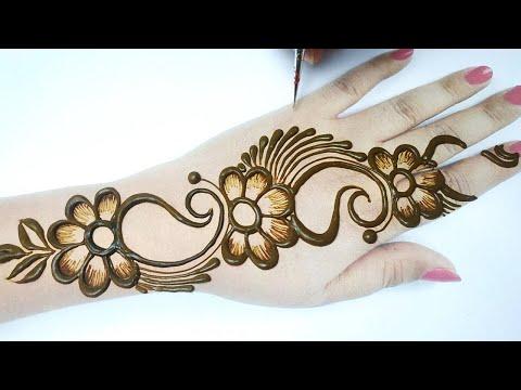 New Stylish Mehndi Design for Hands - शेडेड फ्लावर मेहँदी डिज़ाइन लगाना सीखे- Easy Eid Mehndi 2020
