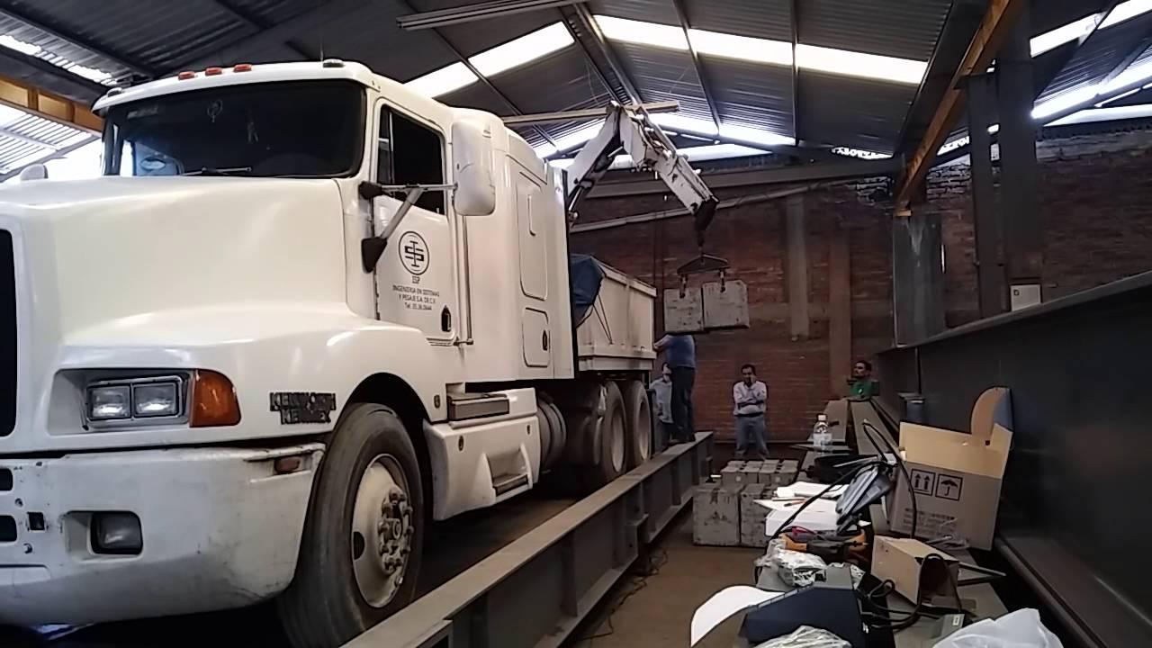 Calibracion basculas Camioneras Sabido