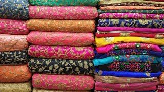 দেখুন গাউছিয়া মার্কেটের অনেক সুন্দর গজ কাপড় কালেকশন/Exclusive gawsia market gouge fabric.