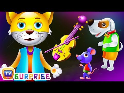 Thumbnail: Surprise Eggs Nursery Rhymes Toys | Hey Diddle Diddle | Learn Colours & Domestic Animals | ChuChu TV