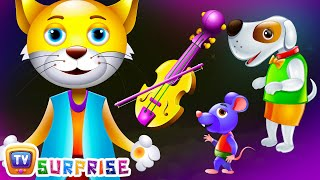 Surprise Eggs Nursery Rhymes Toys | Hey Diddle Diddle | Learn Colours & Domestic Animals | ChuChu TV