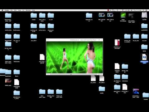 VJ Tim Abad's video file bending tutorial - Modul8 avidemux glitch art