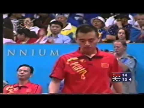 2000 Olympics (ms-final/NEW Version!!) KONG Linghui vs WALDNER Jan-Ove [Full Match/Short F