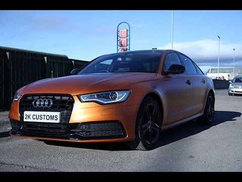 Full car wrap on Audi A6 2012 in Satin Canyon Copper vinyl ...
