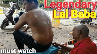 Street Lal baba body massage with neck cracking ASMR relaxing videos.