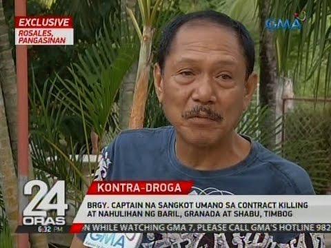 Brgy. captain na sangkot umano sa contract killing at nahulihan ng baril, granada at shabu, timbog