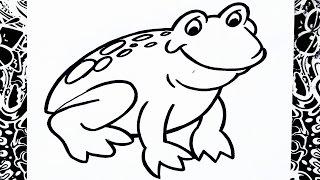 como dibujar una rana   how to draw a frog