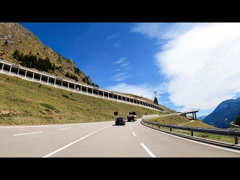 Driving the Saint Gotthard Pass, Switzerland