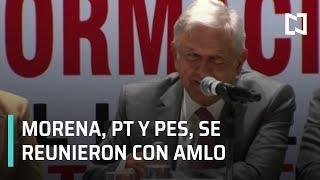 Legisladores de Morena discuten agenda con AMLO - Punto y Contrapunto