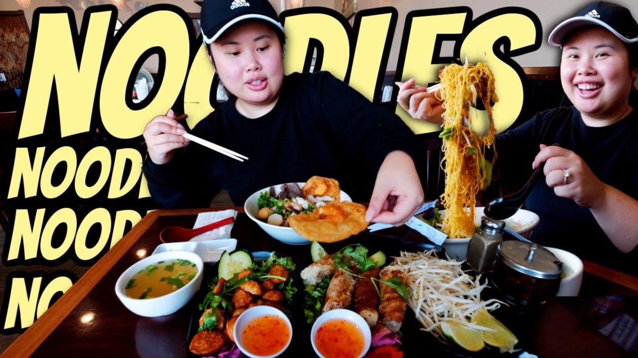 VIETNAMESE EGG NOODLES MUKBANG 먹방 + EGG ROLLS + FISH BALLS EATING SHOW! *TRYING NEW RESTAURANT*